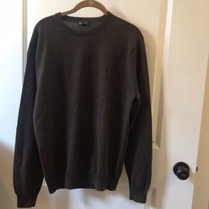 Men's J. Crew brown Italian Merino sweater large